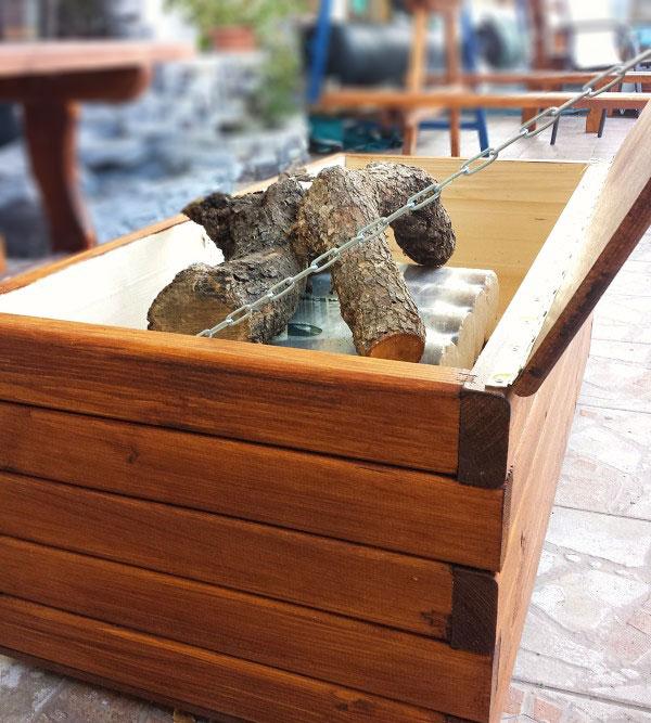 ξυλινο μπαουλο αποθηκευσης