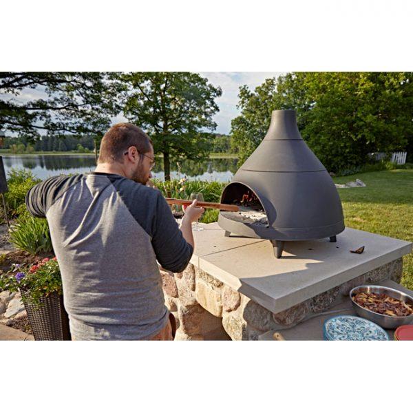 Invicta-Lo-Cigalou-Wood-Pizza-Oven-In-Use